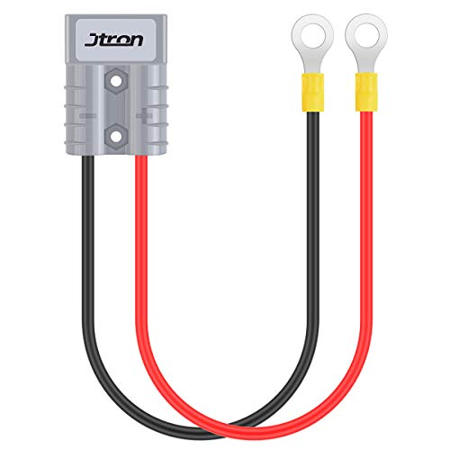 Jtron 50A 600 V Batterieladegeräte Batterie Schnelltrennstecker Stecker Anhängerwinde Stecker mit 1FT Kabel (Turn O Connector)
