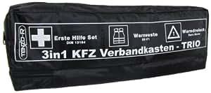 3 in 1 kfz kombi verbandskasten warndreieck warnweste. Black Bedroom Furniture Sets. Home Design Ideas