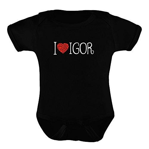 Idakoos I love Igor cool style - Männliche Namen - Babystrampler (Name Strampelanzug)