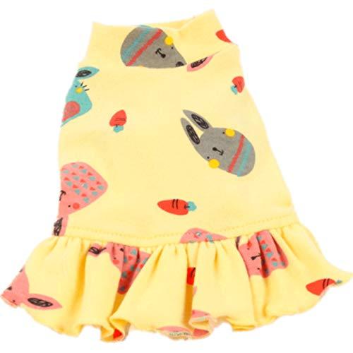 lipanpan Teddy Kleidung Herbst Rock Haustier Kostüm Frühling Herbst Hund Frühling Katze Paar Kleid Bottom Shirt