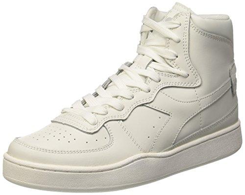 Diadora Mi Basket - Sneaker alte Unisex adulto Bianco (C0657 Bianco/Bianco)