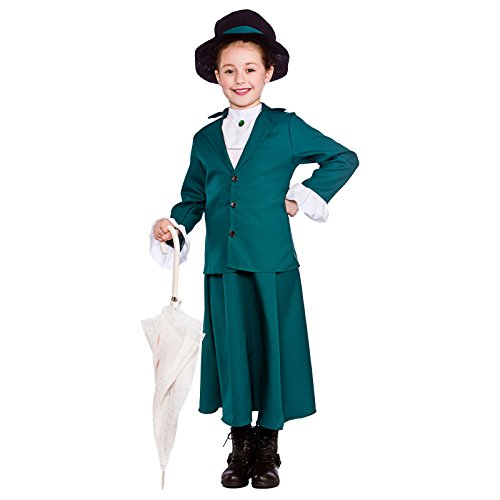 Girls Victorian Nanny Fancy Dress Costume