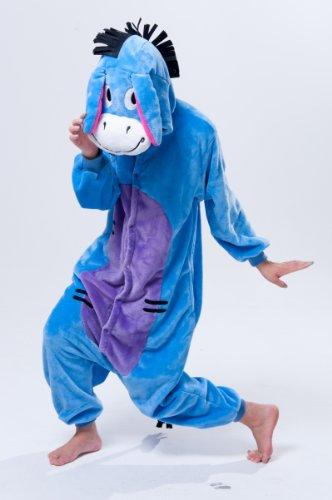Imagen de adulto unisexo winnie the pooh personajes pijama completo cerdito burro eeyore tigre onesie fiesta disfraz de kigurumi con capucha pijama sudadera ropa para dormir regalo de navidad eeyore donkey, m height 160cm 170cm