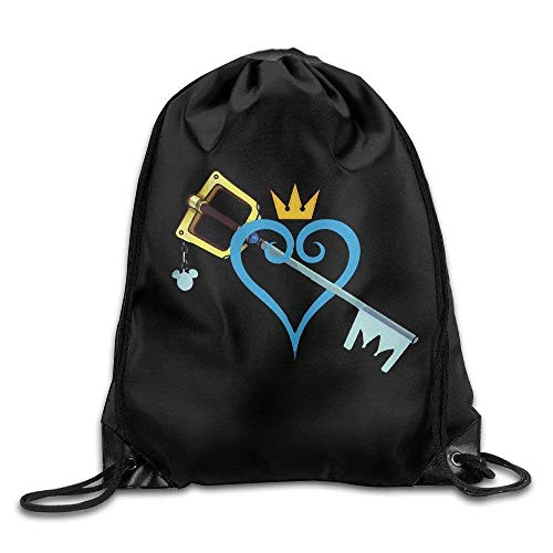 Etryrt Turnbeutel/Bedruckte Sportbeutel, Premium Drawstring Gym Bag Rucksack, Kingdom Hearts Sword Sport Backpack Drawstring Print Bag for Sports, Beach Holidays, Swimming, Travel -