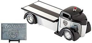 Dickie Toys 253745018 1948 Ford COE, Wave 5, vehículo con Rueda Libre, Jada Toys 20 años de Aniversario, Plata de Metal Cepillado