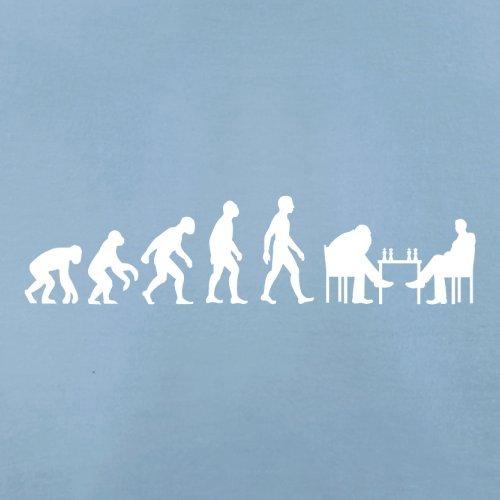Evolution of Man - Schach - Herren T-Shirt - 10 Farben Himmelblau