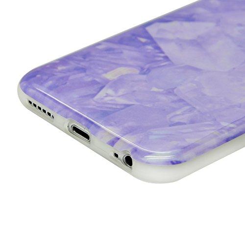iPhone 7 Plus Marmor Hülle,iPhone 7 Plus Marble Case,Sunroyal Kreative Stylish Schickes Retro Elegant Schön Luxus Rot Granite Grain Stein Pattern Silikon Handyhülle Weiß Stein Glamour Ultradünn Marble Pattern 13