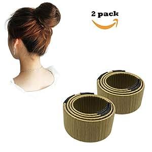 Qorol 2pcs Bun Maker Hair Bun Making French Twist Donut
