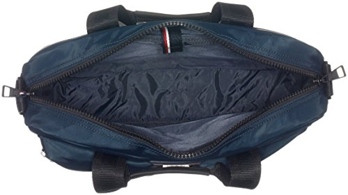 Tommy Hilfiger Easy Nylon Computer Bag, Sacs portés main Bleu - Blau (Midnight 001 001)