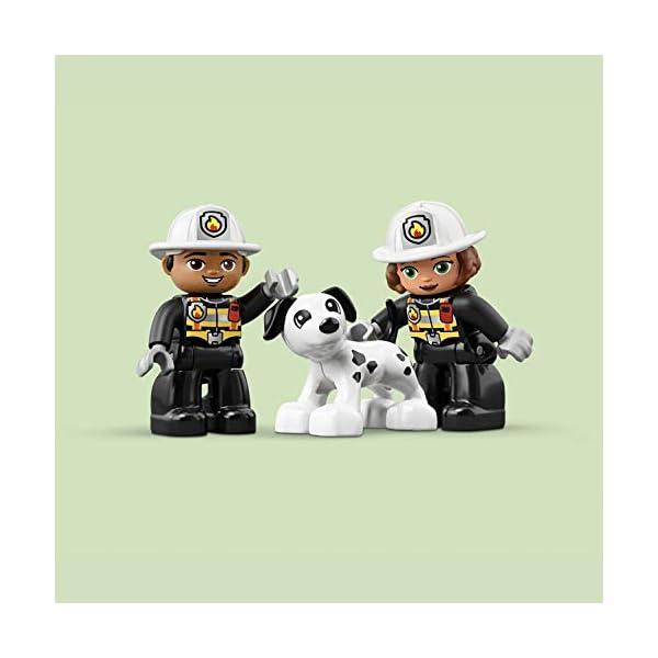 LEGO DUPLOTown CasermadeiPompieri, Luci e Suoni, Autopompa e 2 Figure dei Pompieri,Giocattoli per Bambini dai 2 ai 5 Anni, 10903 5 spesavip