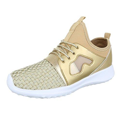Design Ital Gold Sneaker Design donna Gold donna Sneaker Ital Ital Design H11ZIr