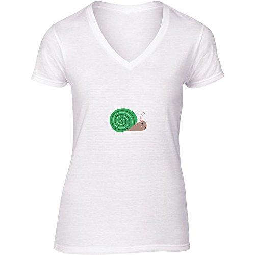t-shirt-bianco-scollo-a-v-donne-taglia-s-carino-lumaca-verde-by-ilovecotton
