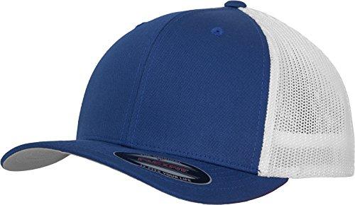 Flexfit Mesh Trucker Cap 2-Tone - Unisex Baseballcap für Damen und Herren, Farbe Royal/White, L/XL Blau Mesh Trucker Cap