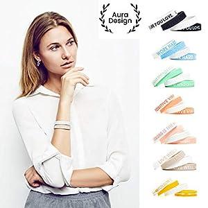 Aura Design Damen-Armband | Silikonarmband | Sportarmband | Fitness-Armband | Armband für Damen | 4 Armbänder | 180 mm
