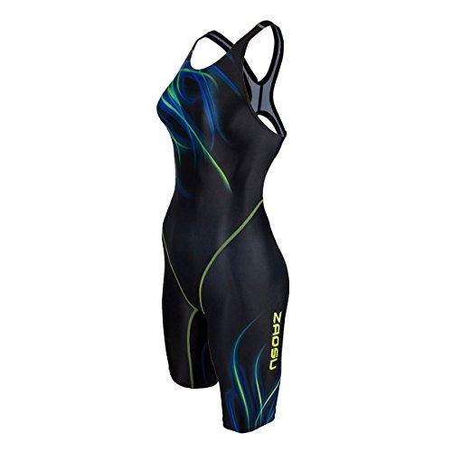ZAOSU Wettkampf-Schwimmanzug Z-Fire III - Badeanzug mit Bein für Damen und Mädchen, Größe:40