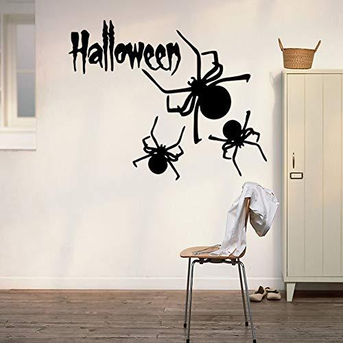 Shentop Halloween Spinnenaufkleber Halloween Party Wandtattoos für Fenster und Hintergrund von Home School Office und Einkaufszentrum 57x36 cm