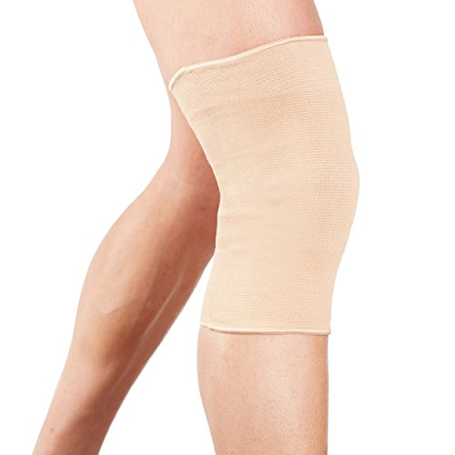 b0d9ea7e24 Actesso Elastic Knee Sleeve Support - Lightweight Elasticated Compression  Bandage for Joint Pain & Sprains During