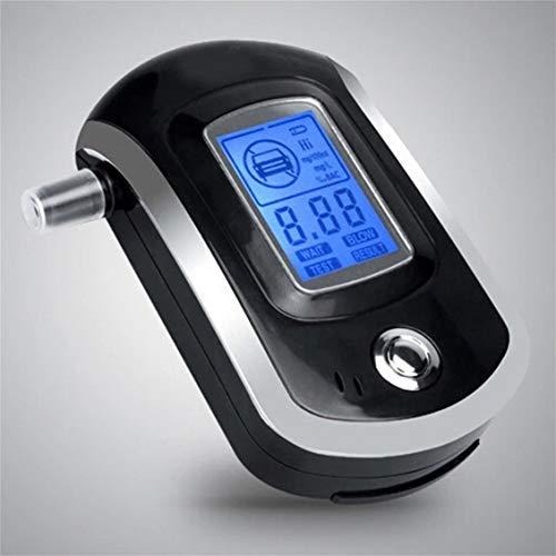 Fghdf Probador de Alcohol Analizador de Aliento de alcoholímetro Digital Profesional con Gran Pantalla LCD Digital 5 Piezas boquillas