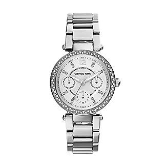 Michael Kors MK5615 – Reloj de cuarzo con correa de acero inoxidable para mujer, color plateado