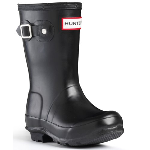 Hunter Original Jungen Kids Fest Gummistiefel Wellington Boots - Schwarz - 36 (Kinder Original Hunter Stiefel)