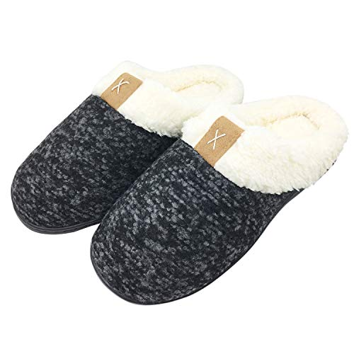 137c9bfd43c9 Ladies  Classic Memory Foam Plush House Slippers