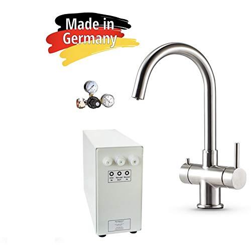 Sprudel-Lok Sprudel aus dem Wasserhahn! Untertisch-Trinkwassersystem - Trinkwassersprudler NEUHEIT! inkl. 3-Wege-Zusatzarmatur Impreza und Anschluss-Set. Made in Germany