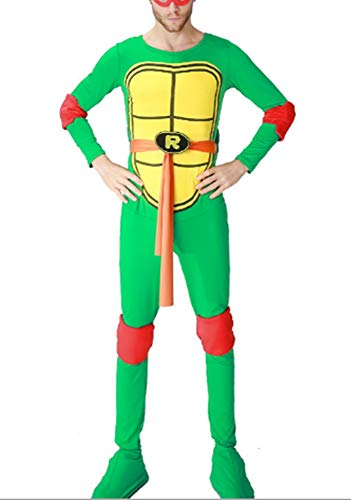 Mitef Herren Teenage Mutant Ninja Turtle Kostüm und Zubehör Cosplay - Rot - Large (Teenage Mutant Ninja Turtles Kostüm Zubehör)
