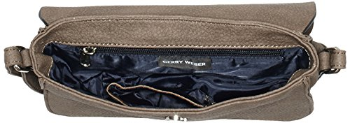 Gerry Weber - Talk Different II Flap Bag H, S, Borsa a tracolla Donna Marrone (Braun (taupe 104))