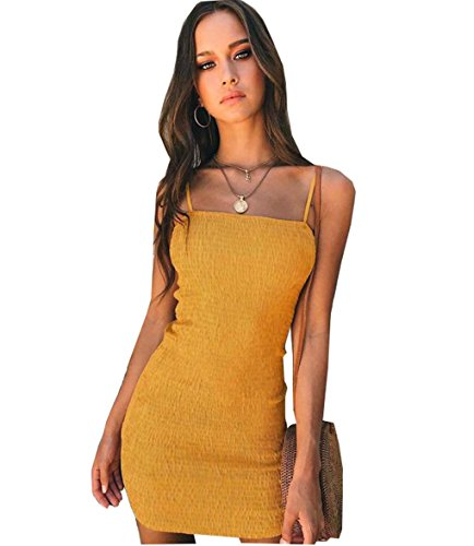 LemonGirl Damenmode Sexy Bodycon Strap Mini Casual Sling Kleid