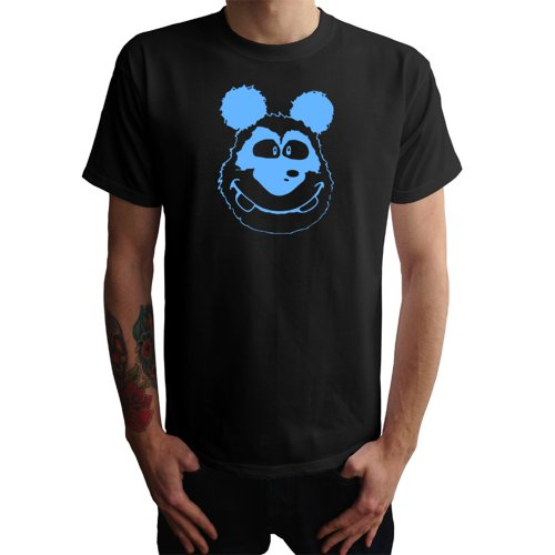 Panda Kopf Herren T-Shirt Schwarz