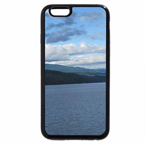 iPhone 3S/iPhone 6Coque (Noir) A Fine Day sur shuswaps Lacs en BC-Canada