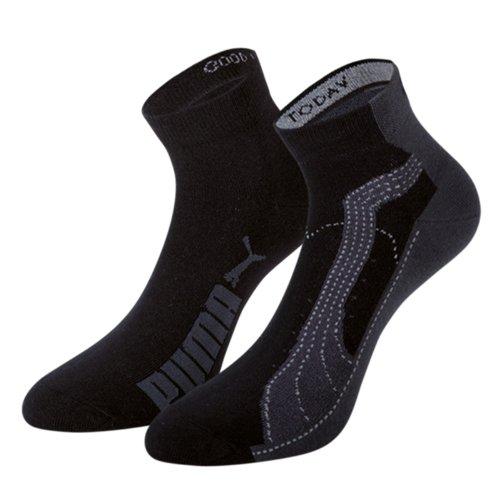 Puma Sports Socks Unisex FTPA Quarter Trainer Lifestyle Socks (2 Pair Pack)