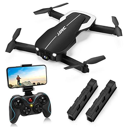 JJRC H71 Faltbare Drohne mit Optischer Fluss Höhe Halten,Drohnen mit Kamera 1080P für Erwachsene, 22(11+11) Minuten lange Flugzeit, WiFi FPV Live Video Quadrocopter Drohne für Anfänger (schwarz)