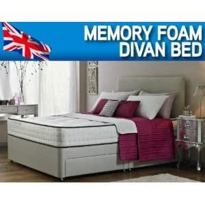 6 39 0 super king size orthopaedic divan bed with mattress for Super king size divan bed with storage