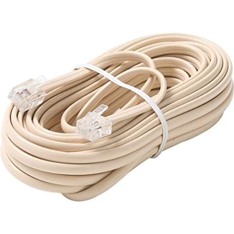 Steren 100' Ivory 6-Conductor Telephone Line