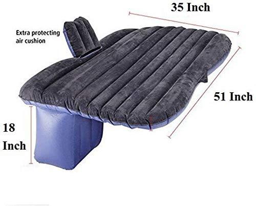 Tishnagi Designer Multifunctional Inflatable Car Bed Mattress with Two Air Pillows, Car Air Pump and Repair Kit (Multi Coloration) Image 9