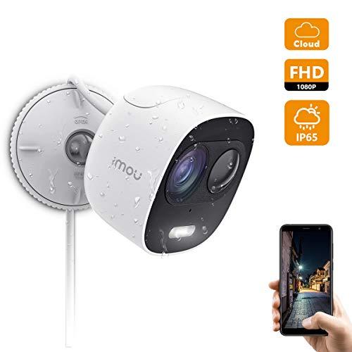 Imou Überwachungskamera Aussen, 1080P WLAN IP Kamera Aussen Wetterfeste IP65 mit PIR Bewegungserkennung, Zwei-Weg Audio und Nachtsicht zur Aktiven Abschreckung mit Lautsprecher und Scheinwerfer