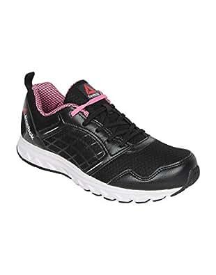 Reebok Men's Black, White, Icono Pink and Gravel Road Rush Running Shoes - 5 UK/India (38 EU)(7.5 US)