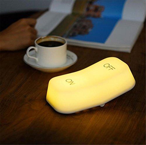 STEAM PANDA Nachtlicht, Schwerkraft-Sensor, Schlüsselschalter-Design, Doppelte Datei, LED, Einstellbare Helligkeit, Gelbes Licht