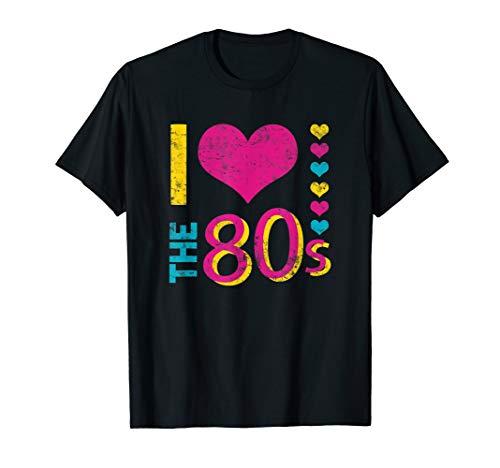 I love the 80s Shirt Ich liebe die 80er Jahre Party Kostüme