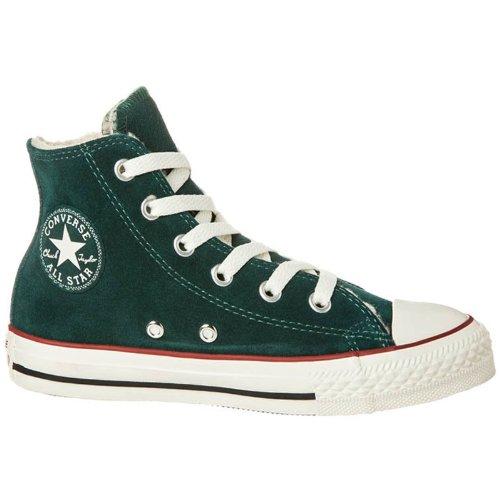 Converse All Star Shearling Hi Junior 641057C Kinder Sneaker, ponderosa dunkelgrün, Gr. 32 EU / 1 US Y / 13.5 UK
