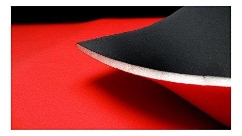 Fabrics-City SCHWARZ/ROT 10MM STRETCH NEOPREN-IMITAT STOFF DOUBLEFACE NEOPRENSTOFF STOFFE, 3205