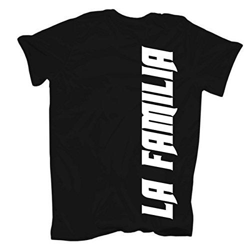 Männer und Herren T-Shirt FFM Frankfurt (mit Rückendruck) Körperbetont schwarz