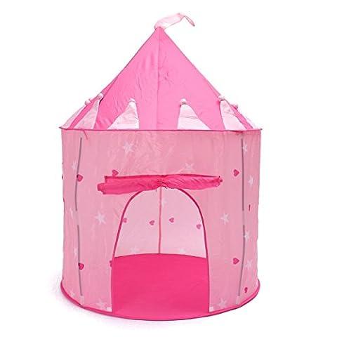 MOHOO Tente de jeu Maison de jouer portable pliant petit château pour filles et petits enfants le jouet pour bébé