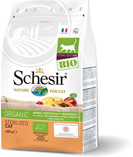 Schesir Bio Sterilised Adult Cat Biologische Kroketten für Erwachsene, 400 g