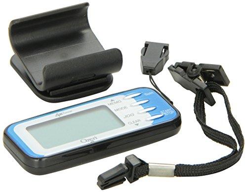 Ozeri 4x3runner Pocket 3D Schrittzähler und Aktivitätstracker mit Dual Walking & Running Mode Technologie