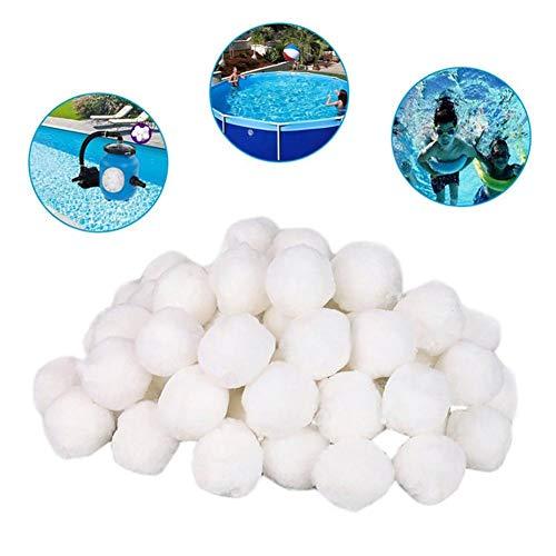 Jiang Hui Filter Balls 700g Filterbälle Filtermaterial Ersetzen 25 Kg Filtersand Für Pool Sandfilter (Lbs 50 Filter Sand Pool)