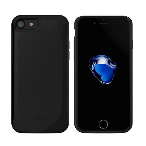 Custodia iPhone 7 [Ricaricabile], BasicStock 2600mAh Alta capacità Esterno Battery Cover Power Caricabatterie Protettivo Case Cover(Nero)