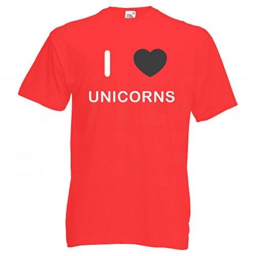 I Love Unicorns - T-Shirt Rot