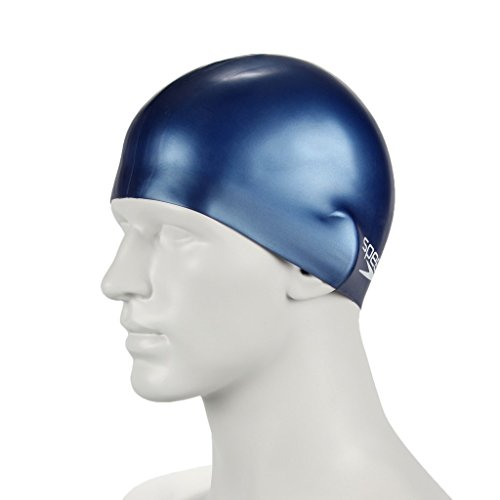 speedo-kids-plain-moulded-silicone-swim-cap-navy-one-size